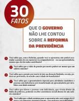 30 Fatos que o Governo não lhe contou sobre a Reforma da Previdência